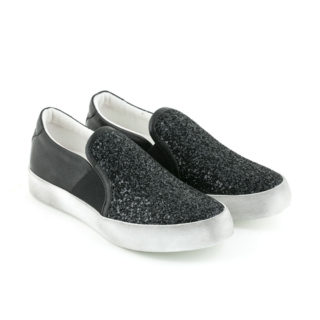 sneakers slip on glitter