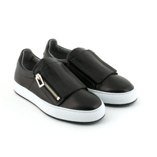 sneakers-slip-on-black-leather-zip